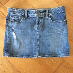 "Paige jean skirt ""Malibu"" 27"